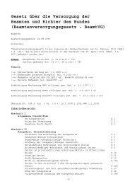Beamtenversorgungsgesetz - BeamtVG - Eureka24.de