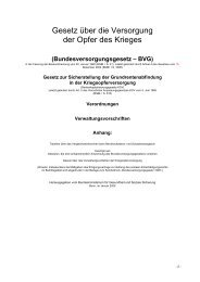 Bundesversorgungsgesetz - Eureka24.de