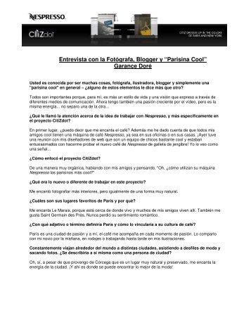 """Entrevista con la Fotógrafa, Blogger y """"Parisina Cool"""" Garance Doré"""