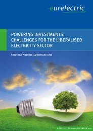 Powering Investments: Challenges for the Liberalised ... - Eurelectric