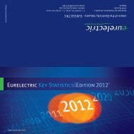 EURELECTRIC Key Statistics - 2012 Edition