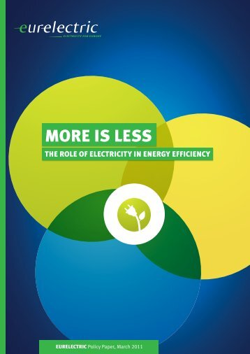 More is Less - The Role of Electricity in Energy Efficiency - Eurelectric