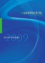 EURELECTRIC Annual Activity Report 2009