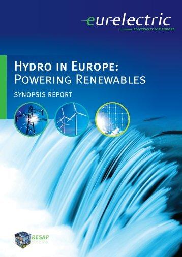 Hydro in Europe: Powering Renewables - ENDS Europe