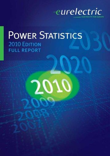 Power Statistics - 2010 Edition - Full Report - Eurelectric