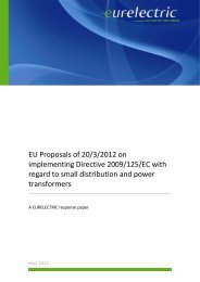 EU Proposals of 20/3/2012 on implementing Directive ... - Eurelectric