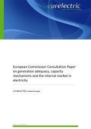 European Commission Consultation Paper on ... - Eurelectric