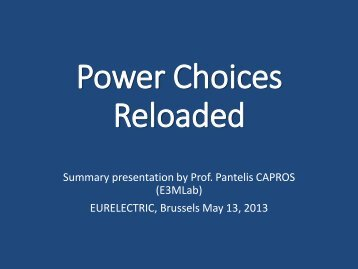 Power Choices Reloaded - Eurelectric