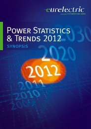 Power Statistics & Trends 2012 - Synopsis - Eurelectric