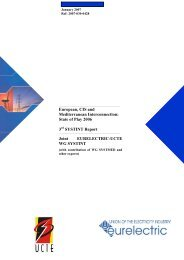 European, CIS and Mediterranean Interconnection ... - Eurelectric