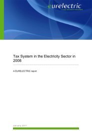 Tax System in the Electricity Sector in 2008 - Eurelectric