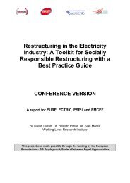 CONFERENCE VERSION Restructuring in the ... - Eurelectric
