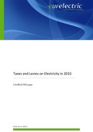 Taxes and Levies on Electricity in 2010 - Eurelectric
