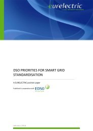 DSO Priorities for Smart Grid Standardisation - Eurelectric