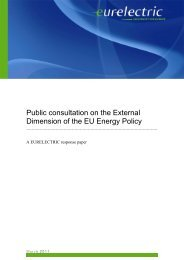 Public consultation on the External Dimension of the EU ... - Eurelectric