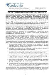 PRESS RELEASE - Eurelectric