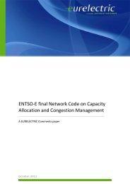 ENTSO-E final Network Code on Capacity Allocation ... - Eurelectric