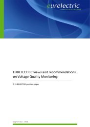 EURELECTRIC views and recommendations on Voltage Quality ...