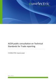 ACER public consultation on Technical Standards for ... - Eurelectric