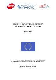 Equal Opportunities & Diversity Toolkit / Best Practices ... - Eurelectric