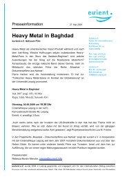 Heavy Metal in Baghdad - eurient eV
