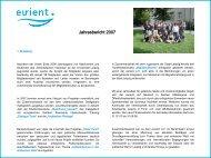 Jahresbericht 2007 - eurient eV