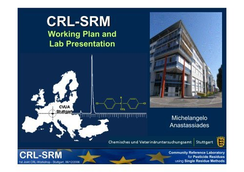 CRL for Single Residue Methods - EURL | Residues of Pesticides