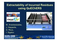 Extractability of Incurred Residues using QuEChERS - EURL ...