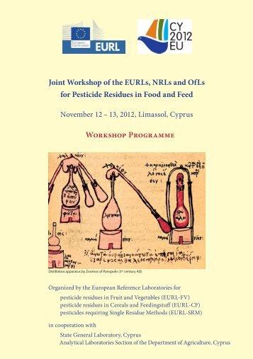 Final Programme - EURL | Residues of Pesticides