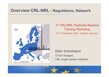 Overview CRL-NRL - Regulations, Network - EURL | Residues of ...