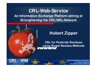 CRL-Web-Service - EURL | Residues of Pesticides