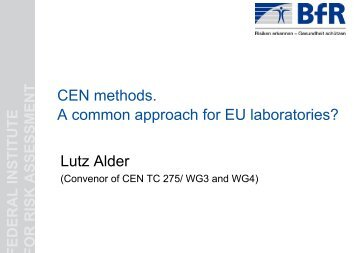 CEN Methods - EURL | Residues of Pesticides
