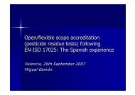 Open/flexible scope accreditation - EURL | Residues of Pesticides