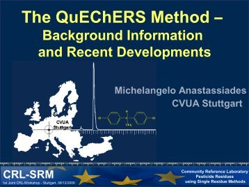 The QuEChERS Method – - EURL | Residues of Pesticides