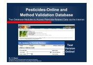 Pesticides-Online and Method Validation Database - EURL ...