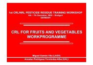 CRL for Fruits & Vegetables - Work Programme - EURL | Residues ...