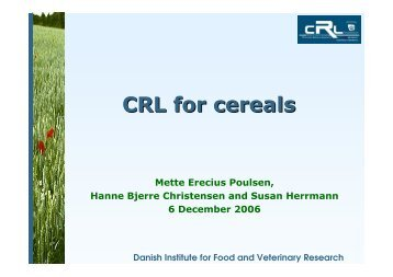 CRL for cereals - EURL | Residues of Pesticides