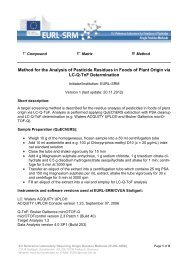 Method for the Analysis of Pesticide Residues in Foods of Plant ...