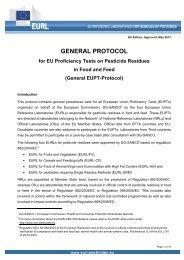 EUPT - EURL | Residues of Pesticides