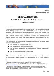 GENERAL PROTOCOL - EURL | Residues of Pesticides