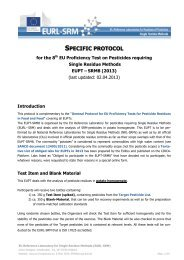 EUPT-SRM8 Specific Protocol - EURL | Residues of Pesticides