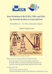 1 st circular - EURL | Residues of Pesticides