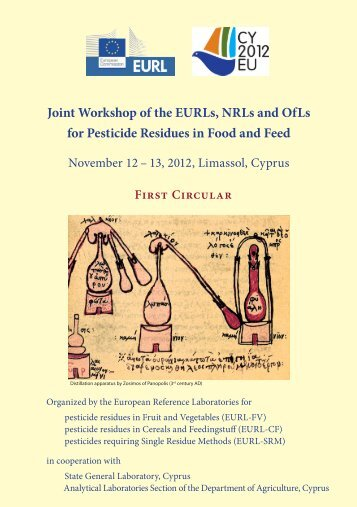 1 st circular - EURL | Residues of Pesticides