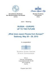 RUSSIA – EUROPE: UP TO THE FUTURE - European Academy of ...