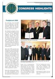 Congress Highlights Ausgabe 12 / März 2008 - European Academy ...