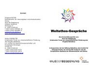 Weltethos-Gespräche - Europäische Akademie der Wissenschaften ...