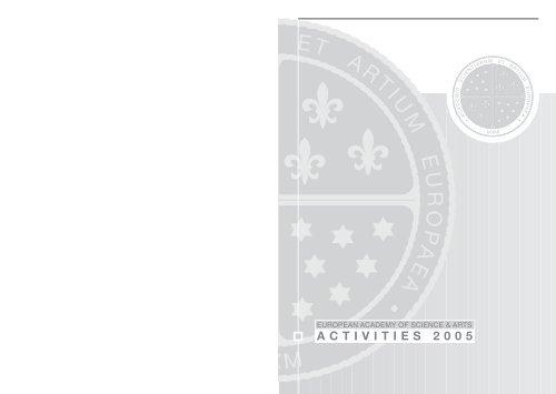 ACTIVITIES 2005 - European Academy of Sciences and Arts