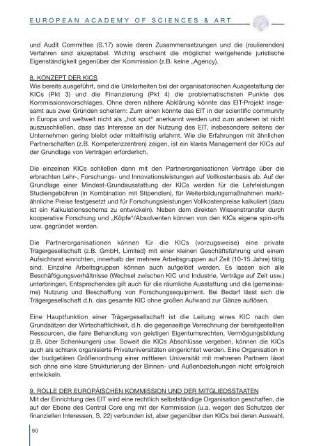 Activities 2006 - European Academy of Sciences and Arts