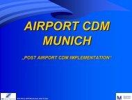 Post Munich Airport CDM Implementation including KPIs
