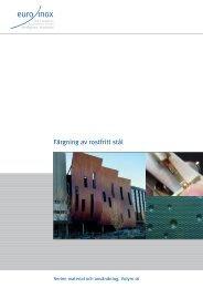 PDF: Färgning av rostfritt stål - Euro Inox
